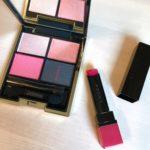 【SUQQU】「ピンクの切れ味」SUMMER COLLECTION2019の大人ピンクが可愛い!デザイニングカラーアイズ 125 洸惚とクリア ネオン リップスティック 101潤赤